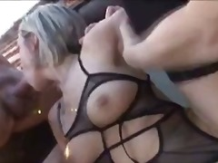 threesome, blonde, riding, mmf, bisexual