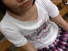 fingering, japanese, outdoors, pussy, asian