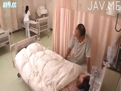 hand job, asiër, uniform, dokter, japanees