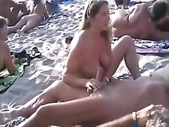 more, beach, husband, handjob, stranger